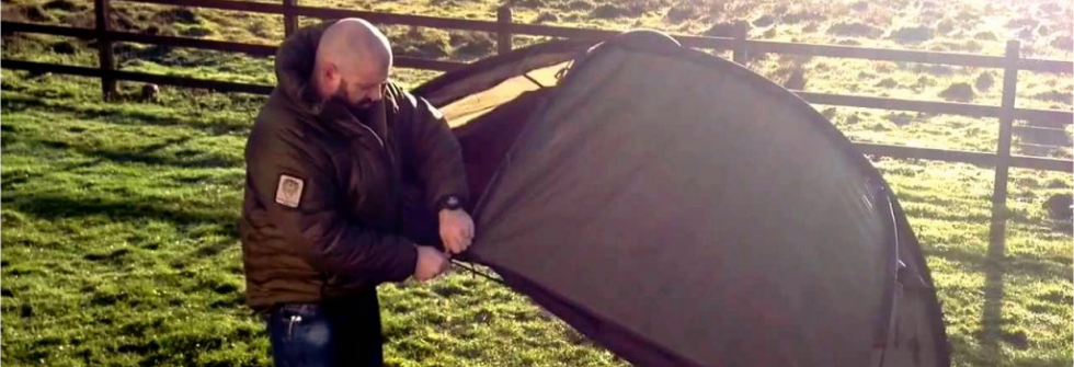 Snugpak-putting-up-a-tent