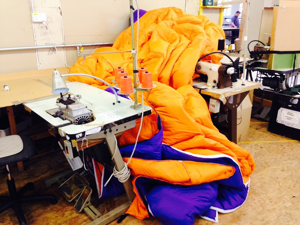 Making the largest Sleeping Bag